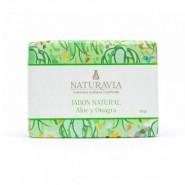 Jabón Natural Aloe y Onagra Reparador - Naturavia