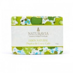 Jabón Natural Pepita de Uva y Cafe - Naturavia
